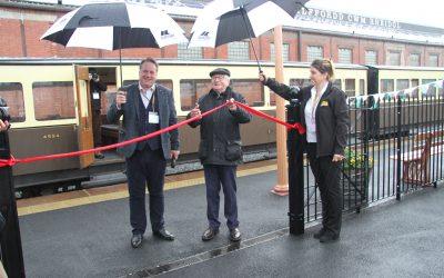 Huge success for grand opening of The Vale of Rheidol Railway new GWR station.